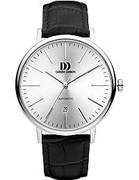 Men'Danish Design Herren Armbanduhr invicta Analog Automatik Leder schwarz Armband DZ120352