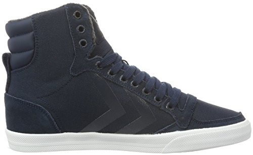 Hummel Slimmer Stadil Smooth Canvas, Sneakers Hautes Mixte Adulte Bleu (Total Eclipse)