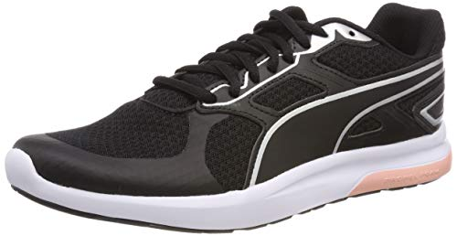 Puma Escaper Tech Zapatillas de deporte Unisex adulto, Negro (Puma Black-Silver-Puma White-Peach Bud), 36 EU (3.5 UK)