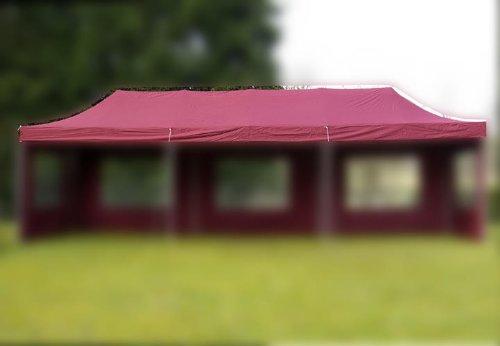 Nexos Pavillondach Ersatzdach Wechseldach für Profi Falt-Pavillon 3x9m - Dachplane 270g/m² PVC-Coating versiegelte Nähte wasserdicht – Farbe: Burgund
