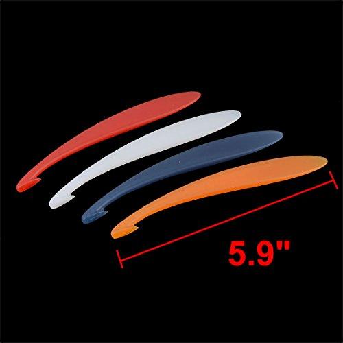 sourcingmap Plastic Peeler Tool Fruit Orange Watermelon Slicer 15cm Length Red