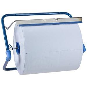 Funny Wandhalten für Putztuchrollen, Metall blau, Rollen bis 40 cm breite, 1er Pack (1 x 1 Stück)
