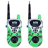 HSSKK transmisores-receptores Electrónico Walkie Talkie 2pcs Radios portátiles Spyware Juguetes para niños Juguetes para niños Mini Dispositivo portátil de Mano Portátil,Green