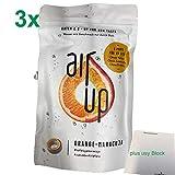 air up Duft-Pods Orange-Maracuja für airup Trinkflasche 3er Pack (3x3 Pods) plus usy Block