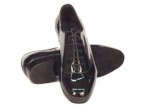 Scarpe da ballo per ragazzo in vernice nero brillante Nero Lucido