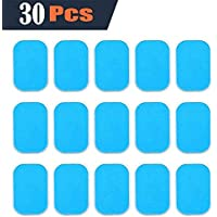 LOFFU EMS Abs Replacement Pads, Abs Trainer Replacement Gel Sheet Abdominal Toning Belt Muscle Toner 30pcs Gel(2pcs/packs, 15packs/box)