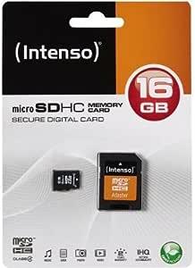 Speicherkarte Intenso 16 Gb Micro Sdhc Class 4 Für Computer Zubehör