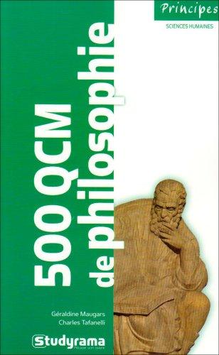 500 QCM de philosophie