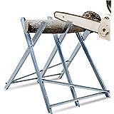 Sägebock Kettensägebock Holzschneidebock klappbar Holzsägebock Sägegestell aus Stehlen für kettensägen Motorsäge brennholz, 150 kg Belastbarkeit