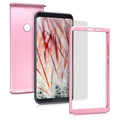 kwmobile Xiaomi Redmi Note 5 (Global Version) / Note 5 Pro Hülle - komplette Abdeckung - inkl. Display Schutzglas - Case für Xiaomi Redmi Note 5 (Global Version) / Note 5 Pro