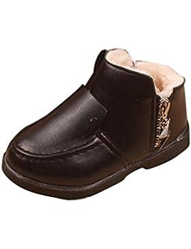 Winter Kinder Baby Jungen Mädchen Stiefel Schneestiefel Covermason Dick Warm Leder Schuhe