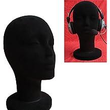 Cabeza modelo, Oyedens Manequi / Maniquí de cabeza Mujer de Espuma (Poliestireno) Expositor para gorro, auriculares, accesorios de pelo y pelucas Espuma Maniquí Mujer