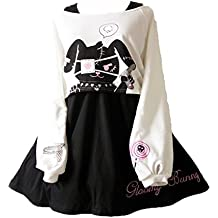 Himifashion Kawaii Conejo Vestido Estampado 2 Piezas para niñas 2018  Vestidos b90d0891185
