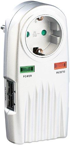 revolt Blitzschutzstecker: 6in1 Überspannungsschutz für TV, HiFi, LAN & Telefon (Steckdosen mit Überspannungsschutz)