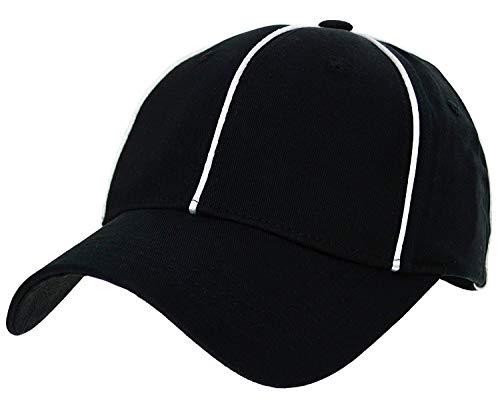 Referee Cap American Football Officials Schiedsrichter Kappe von CAP BUDDY ProFlex-Fit Passform Baseball Cap Schwarz (L-XL)