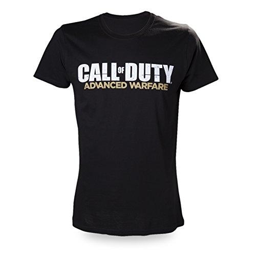 Call of Duty - T-shirt Advanced Warfare con logo del video game - Licenza ufficiale - Cotone - Nero - XL