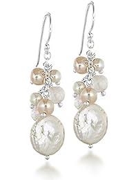 Tuscany Silver Fine Earring Argent 925/1000 Irrégulier Perles d'Eau Douce
