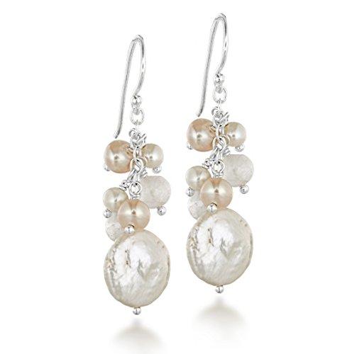 Tuscany Silver - Orecchini Pendenti da Donna in Argento Sterling 925 con Perla