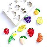 LBOJA Frucht-Reihen-Silikon-Form-Fondant-Kuchen-S¨¹?igkeit DIY Sugarcraft, Das Werkzeug verziert - Wei?