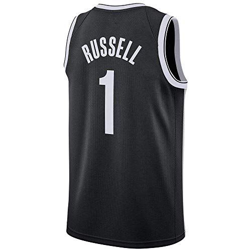 all Trikot D'Angelo Russell # 1 - NBA Brooklyn Nets ETS New Stoff Bestickt Swingman Jersey ärmelloses Shirt ()