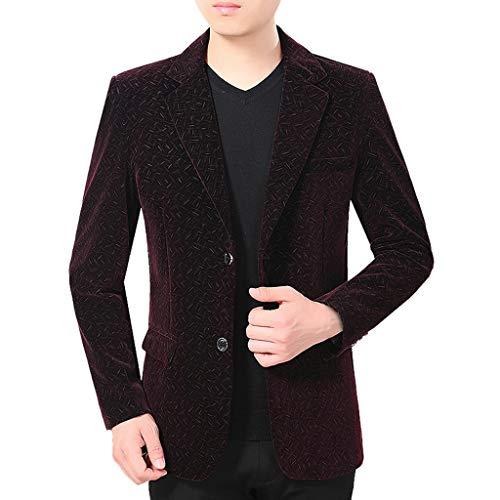 BIKETAFUWY Herren Sakko Anzugjacken Männer Cord Blazer Patches Anzüge Mantel formales Abendessen passt Jacke Herren Herbst Winter Blazer für Hochzeit und Party Business -