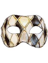 Máscara de Ojos Veneciana Colombina Rombi para Hombres y Mujeres (Plateado)