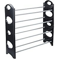 Digionics Foldable Shoe Rack with 4 Shelves (Plastic Rod) (Pack of 1)