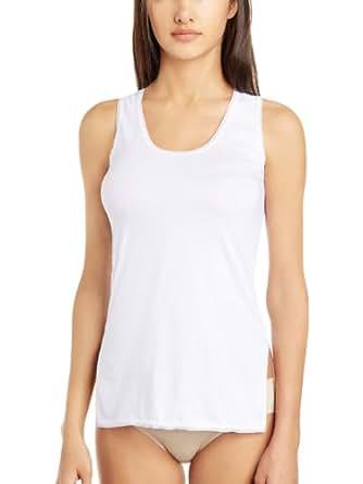 Floret Women's Cotton Vest (1416-White-S)
