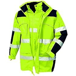 Texxor 4114 - Cazadora alta visibilidad impermeable cortaviento trabajo xxl amarilla