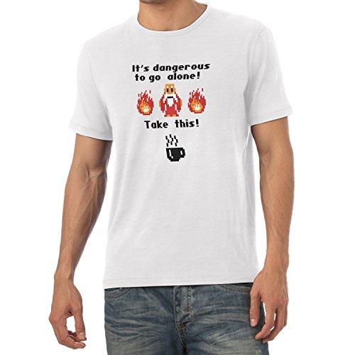 TEXLAB - Take this Coffee - Herren T-Shirt Weiß