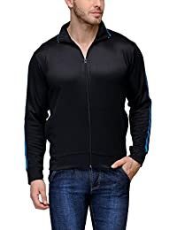Scott International Dryfit jacket wrinkle free Men's (Black with Blue Stripes)