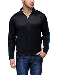 Scott International Dryfit Jacket Wrinkle Free Men's (Black with Blue Stripes)