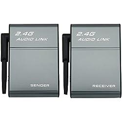 Adaptateur émetteur et récepteur Transmetteur audio numérique sans fil 2,4G pour amplificateur haut-parleur Home Cinema