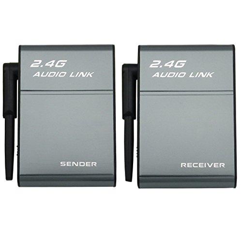 2.4G Wireless digitale trasmettitore audio trasmettitore e ricevitore adattatore per sistema hi-fi Home Theater altoparlante amplificatore