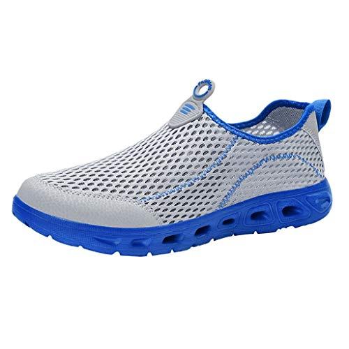 Bluestercool Uomo Scarpe Running Sneakers Leggero Mesh Sneakers Breathable Fashion Tessuto Scarpe da Corsa