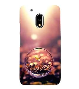 Fuson Designer Back Case Cover for Motorola Moto G4 :: Moto G (4th Gen) (small Plant Bubble Glass Germinating SProuting)