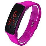 Sannysis® Ultra Thin reloj deportivo; LED silicona reloj de pulsera deportivo (púrpura)