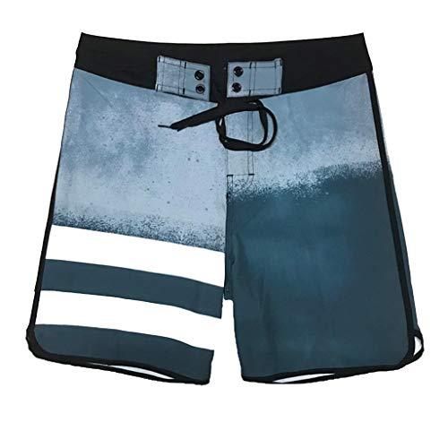 TEBAISE Badeshorts Hawaii Boardshorts Badehose für Herren Freizeit Shorts Mode Urlaub Strand-Shorts Sommer Männer kurz Schnell Quick-Dry Schwimmen Beachshorts mit Netz-Innenslip Taschen Tunnelzug