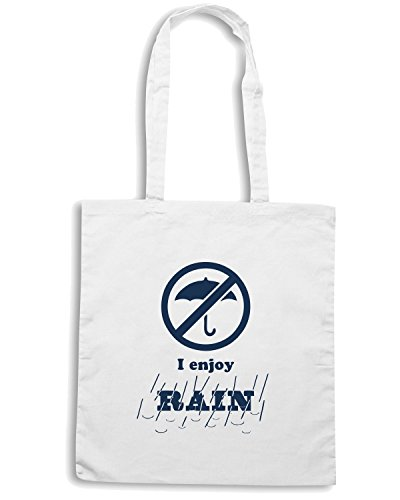 T-Shirtshock - Borsa Shopping ENJOY0110 I enjoy RAIN Bianco