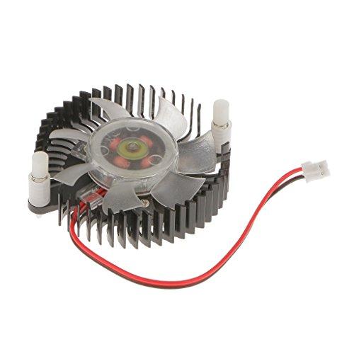 MagiDeal Refrigerador Ventilador de Tarjetas Gráficas Accesorios Odenador de Aluminio Negro con Conector Hembra de 2 Pines Facil de Usar Instalar