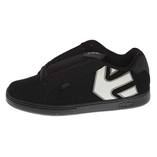 Etnies Mens Men's Fader Skate Shoe, Dark Grey Black Gold