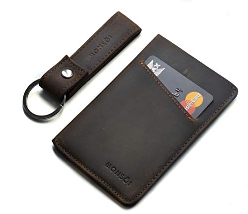 Tarjetero Piel RFID para hasta 12 Tarjetas | Billetera Fina | Cartera Pequeña para Hombres y Mujeres | El Slim Wallet