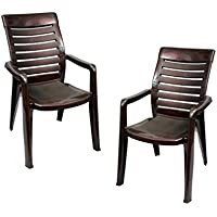 Nilkamal Premium Chair(Brown) Set Of 2