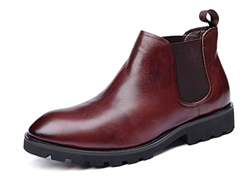 Dilize , Herren Schnürhalbschuhe braun rotbraun (Cowboy-wingtip Schuhe)