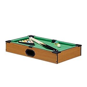 Relaxdays- Mini Billar de Mesa, Color marrón, 9 x 51 x 31 cm (10022516)