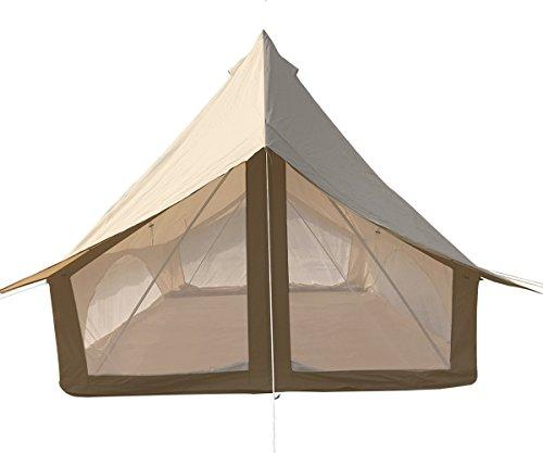 Safari Camping Outdoor Familie Camping wasserdichte Safari Glamping Glocke Zelt oder wasserdicht dachunterstand für Zelt (Leinwand Safari Bell Zelt)