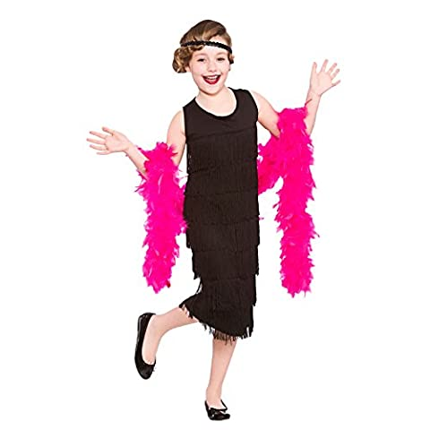 Girls Charleston Flapper Fancy Dress Up Party Costume Halloween Child Outfit