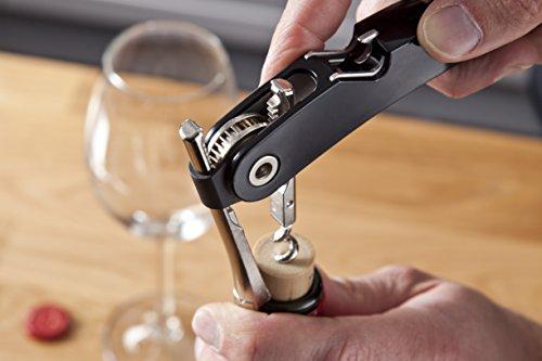 Vacu Vin Single Pull Waiter`s Friend schwarz Kellnermesser, Kunststoff, 13,2X 2X 1,5 cm