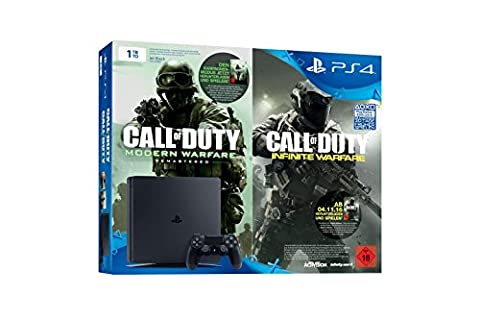 PlayStation 4 - Konsole (1TB, schwarz) inkl. Call of Duty: Infinite Warfare Legacy Edition (Code) (Playstation Kosten)