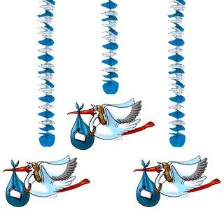 Baby Blau Geburt (Storch Baby)